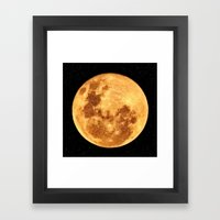 Full Moon Framed Art Print