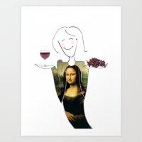She Hearts Mona  Art Print