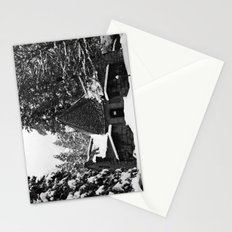 Snow Building in Snow Stationery Cards