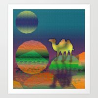 Pop Camel Art Print