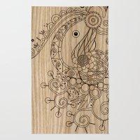 Tangle on wood Rug