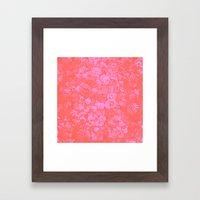 Pink Floral Pattern Framed Art Print