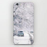 Winter on Beechwood Lane iPhone & iPod Skin