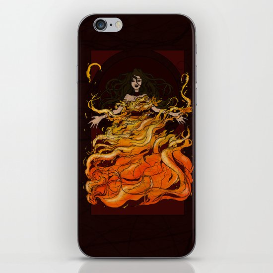 Girl on Fire iPhone & iPod Skin