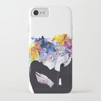 lips iPhone & iPod Cases featuring intimacy on display by agnes-cecile