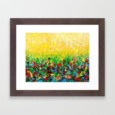 NATURE'S LIVING ROOM - Gorgeous Bright Bold Nature Wildflower Field Landscape Abstract Art New 2012 Framed Art Print