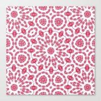 Ruby Mandala Tile 2 Canvas Print