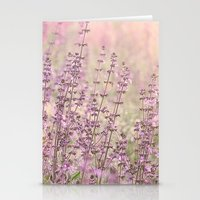 Purple Spring Morning Stationery Cards
