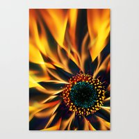 Flaming Love Flower Canvas Print