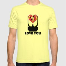 Eye Love You Mens Fitted Tee Lemon SMALL