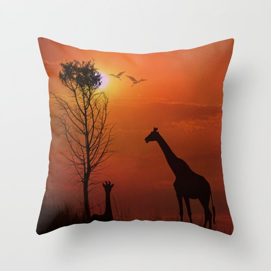 Sunset on the Plaines Throw Pillow