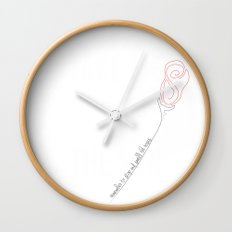 remember to stop and smell the roses... Wall Clock