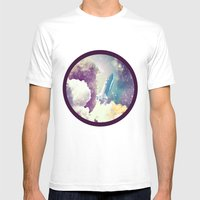 Up To Space!  Mens Fitted Tee White SMALL