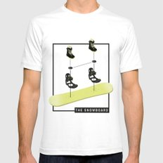 The Snowboard SMALL White Mens Fitted Tee