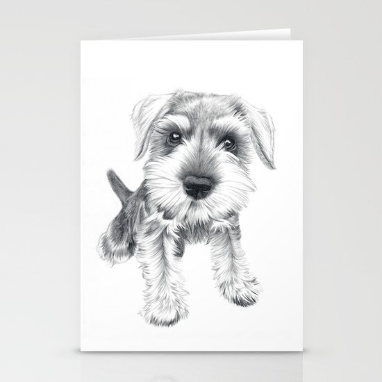 Schnozz the Schnauzer Stationery Card