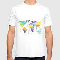 World Splash Mens Fitted Tee White SMALL