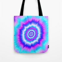 Boom In Blue And Pink Tote Bag