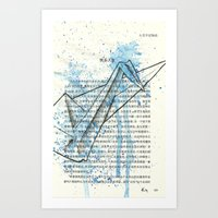 029 - Giant Blue Crane Art Print
