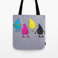 Four Ink Drops Tote Bag