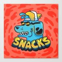 Snacks Dawg Canvas Print
