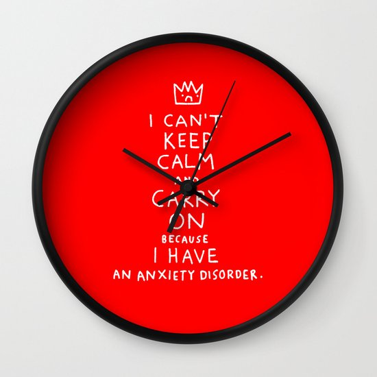 i broke an promise to myself to never make one of these stupid posters Wall Clock