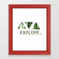 Explore. Framed Art Print