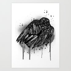 Ravens Sleep Art Print