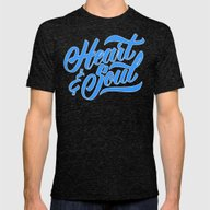 Heart And Soul Mens Fitted Tee Tri-Black SMALL
