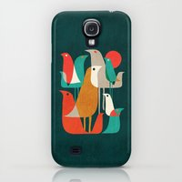 Galaxy S4 Cases featuring Flock of Birds by Budi Kwan