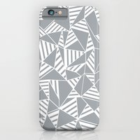 iPhone & iPod Case featuring Abstract Lines B Grey by Project M