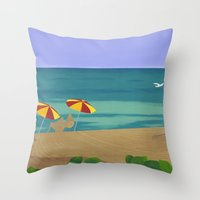 South Beach Pillow 2 Throw Pillow