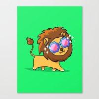 Fabulous Lion Canvas Print
