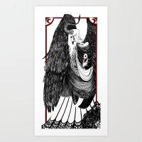 L'Ange du Malheur  Art Print