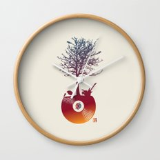 Vinyl Tree 2 Wall Clock
