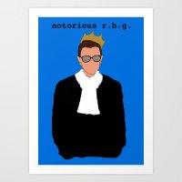 Notorious R.B.G. Art Print