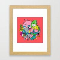 Scribble Ball Framed Art Print