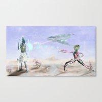 The Company Attacks  Canvas Print