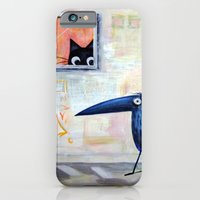 iPhone & iPod Case featuring Cat and Bird by Marianna Tankelevich