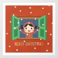 Day 20/25 Advent - Christmas Morning Art Print