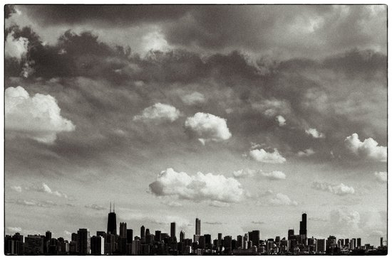 Chicago Skyline - Lone Cloud Art Print