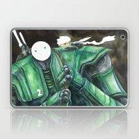 Moonbot #2: Green Laptop & iPad Skin