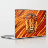 Old Lion Digital Art Pai… Laptop & iPad Skin