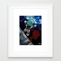 Un voyage dans l'espace Framed Art Print