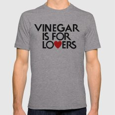 Vinegar is for Lovers Mens Fitted Tee Athletic Grey SMALL