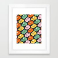 Hungry Hungry Pattern Framed Art Print