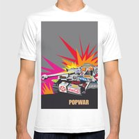 Popwar Mens Fitted Tee White SMALL