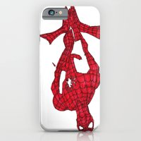 iPhone & iPod Case featuring Hanging Out. Spiderman by Wakamonoyagomi-bot