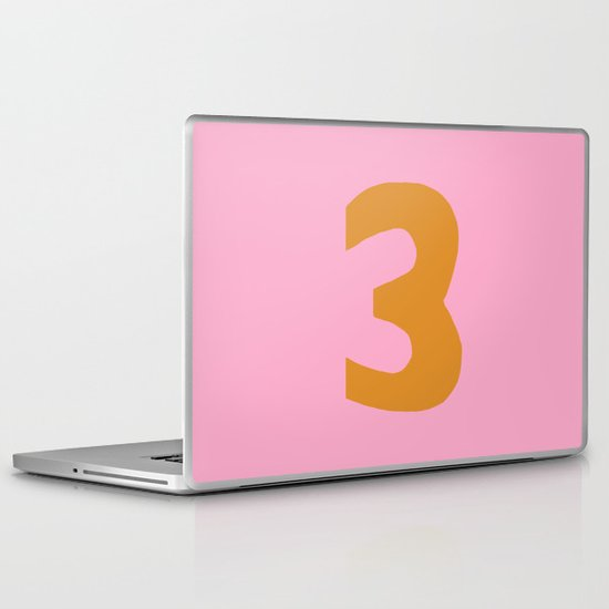 Number 3 Laptop & iPad Skin