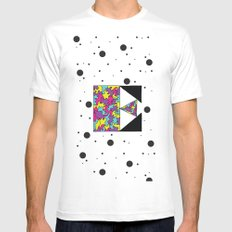Letter E Mens Fitted Tee SMALL White