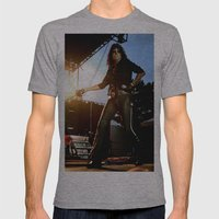 Alice Cooper Fence Stanc… Mens Fitted Tee Athletic Grey SMALL
